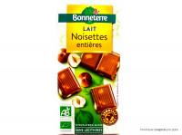 BONNETERRE Chocolat au lait & noisettes entières 100g