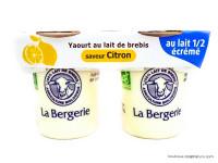 LA BERGERIE Yaourts de brebis au citron 2x125g