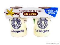 LA BERGERIE Yaourts de brebis à la vanille 2x125g