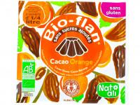 NAT-ALI Bio-flan cacao orange sans sucres ajoutés 2x5g