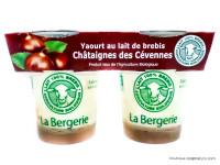 LA BERGERIE Yaourts de brebis aux châtaignes 2x125g