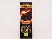 SAVEUR&NATURE Barre de chocolat noir nougat 45g