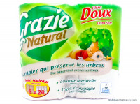 GRAZIE NATURAL Papier toilettes 8 maxi rouleaux