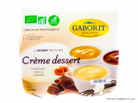 GABORIT Crèmes dessert chocolat, vanille & caramel 4x100g