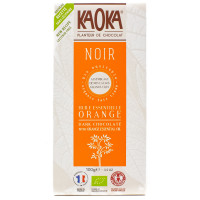 Tablette de Chocolat Noir Huile Essentielle d'Orange - 100g