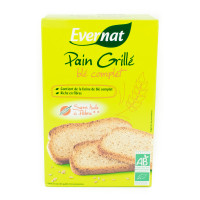 EVERNAT Pain grillé au blé complet 250g BIO