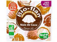 NAT-ALI Bio-flan noix de coco sans sucre ajoutés 2x4g