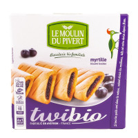 Biscuits Fourrés Twibio Myrtille 150g