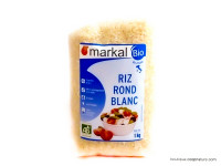 MARKAL Riz rond blanc d'Italie 1kg