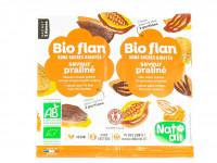 NAT-ALI Bio-flan saveur praliné sans sucre ajoutés 2x5g