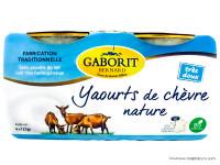 GABORIT Yaourts de chèvre natures 4x125g