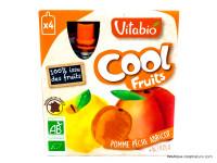 VITABIO Cool fruits pomme pêche abricot + acerola 4x90g