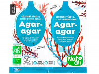 NAT-ALI Gélifiant alimentaire végétal à l'agar-agar 2x4g