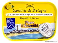 PHARE D'ECKMÜHL Sardines de Bretagne huile d'olive et citron 135g