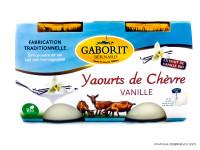 GABORIT Yaourts de chèvre à la vanille 2x125g