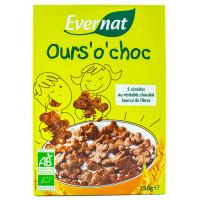 Evernat - Céréales Déjeuner Ours' o' choc 250g - Bio