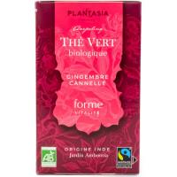 Plantasia - Thé Vert Gingembre Cannelle 18 sachets - Bio