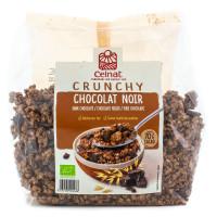 Celnat - Céréales petit déjeuner Crunchy au chocolat noir 500g - Bio