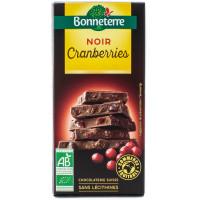 BONNETERRE Chocolat noir cranberries 100g