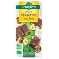 BONNETERRE Chocolat noir noisettes entières 100g