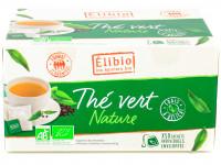 ELIBIO Thé vert nature 50 sachets soit 100g Bio