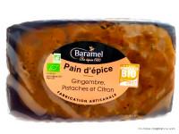 BARAMEL Pain d'épices gingembre, pistaches & citron 300g