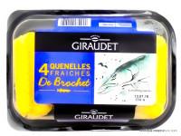 GIRAUDET Quenelles fraiches de brochet x4, 320g