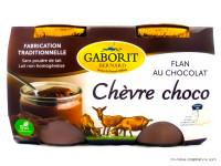 GABORIT Flans de chèvre au chocolat 2x125g