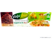 VALPIBIO Spaghettis de riz brun sans gluten 500g