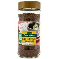 Bonneterre - Café instantané pur arabica 100g - Bio
