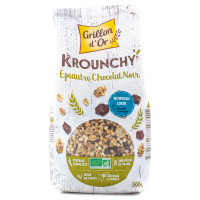 Grillon d'Or - Céréales Déjeuner Krounchy Epeautre Chocolat Noir 500g - Bio