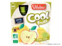 VITABIO Cool fruits pomme poire + acerola 4x90g