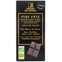 MOULIN DES MOINES Pure pâte de cacao 100% par 100g