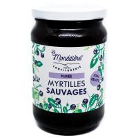 La Monédière - Purée de myrtilles sauvages 280g - Bio
