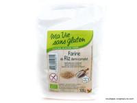 MA VIE SANS GLUTEN Farine de riz demi-complet sans gluten 500g