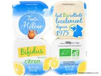 TANTE HÉLÈNE Bifidus saveur citron 4x125g