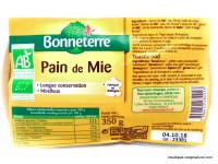 BONNETERRE Pain de mie Bio 350g