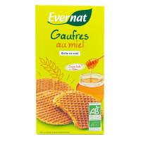 Evernat - Gaufres fourrées au miel 175g - Bio