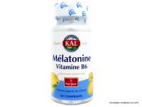 KAL Mélatonine & vitamine B6 par 60 comprimés