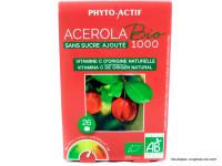 PHYTO-ACTIF Acerola 1000 par 26 comprimés