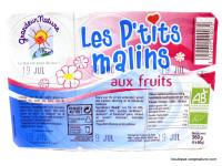 GRANDEUR NATURE Les P'tits malins aux fruits 6x60g