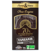Chocolat Noir 70% Origine Tanzanie 100g - Bio