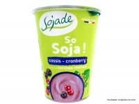 SOJADE Dessert So Soja ! Cassis cranberry 400g