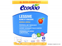 ECODOO Lessive blanc & couleurs pêche 5L
