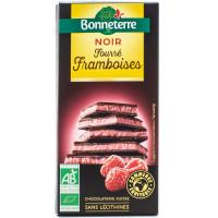 BONNETERRE Chocolat noir fourré framboises 100g