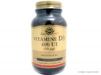SOLGAR Vitamine D3 400UI Boite de 100 softgels