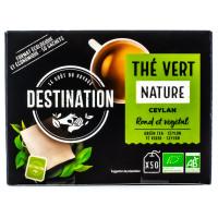Destination - Thé vert Nature Ceylan 50 sachets - Bio