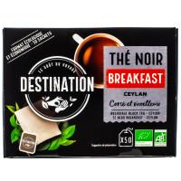 Destination - Thé noir de Ceylan Breakfast 50 sachets - Bio