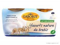 GABORIT Yaourts lait de brebis natures x4, 500g