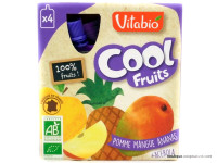 VITABIO Cool fruits pomme mangue ananas + acerola 4x90g
